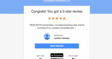 Great review for Courtyard Solicitors in Wimbledon & Totnes
