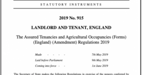 New Section 6A Form tenancy agreement